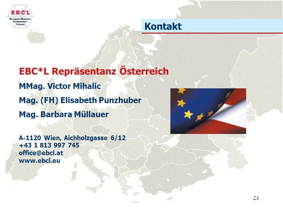 23 EBC*L Repräsentanz Österreich MMag.Victor Mihalic Mag.