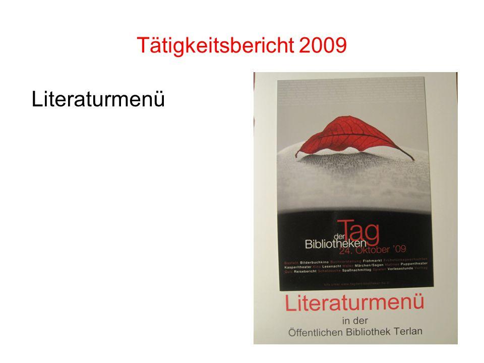 Tätigkeitsbericht 2009 Literaturmenü