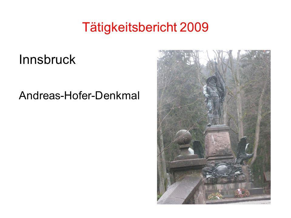 Tätigkeitsbericht 2009 Innsbruck Andreas-Hofer-Denkmal