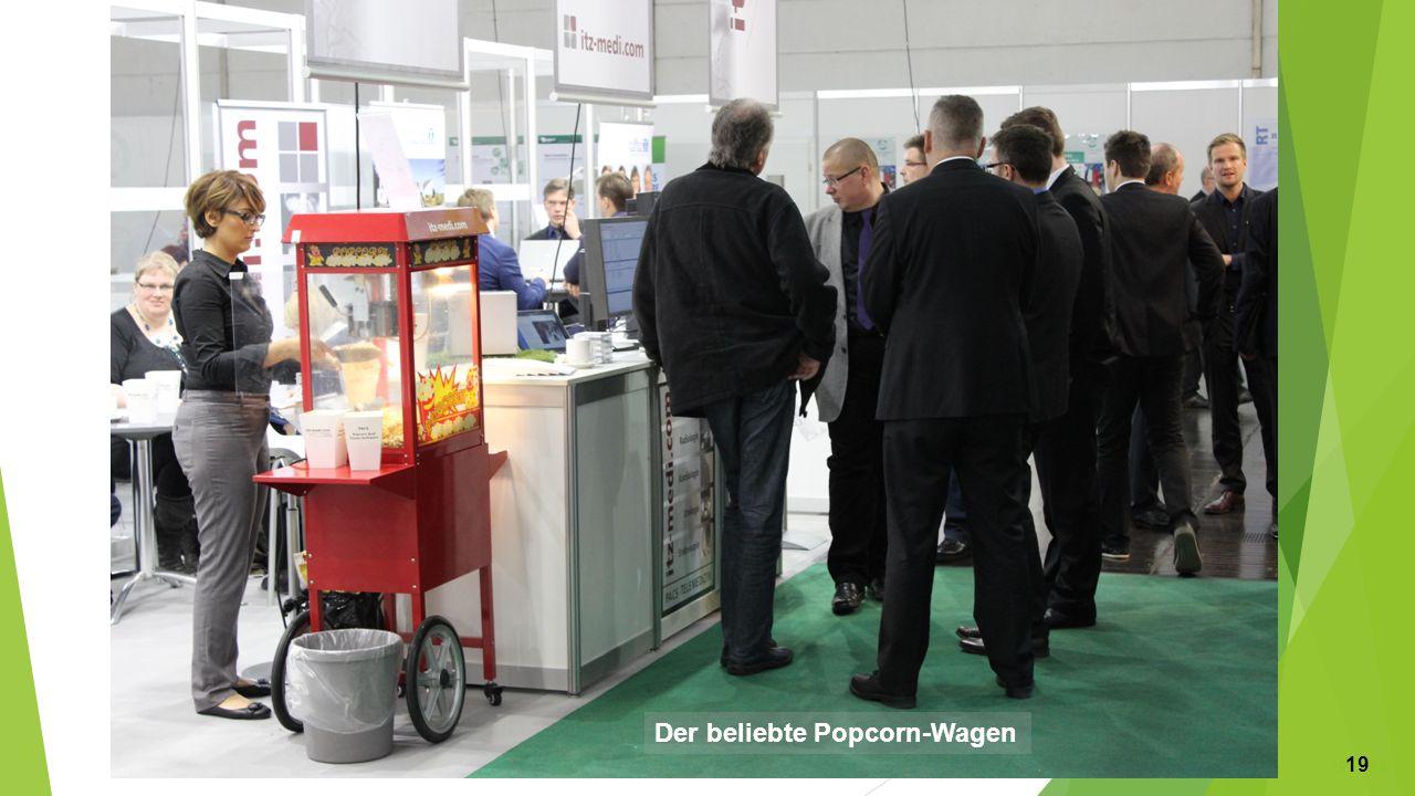 Der beliebte Popcorn-Wagen 19 19 19
