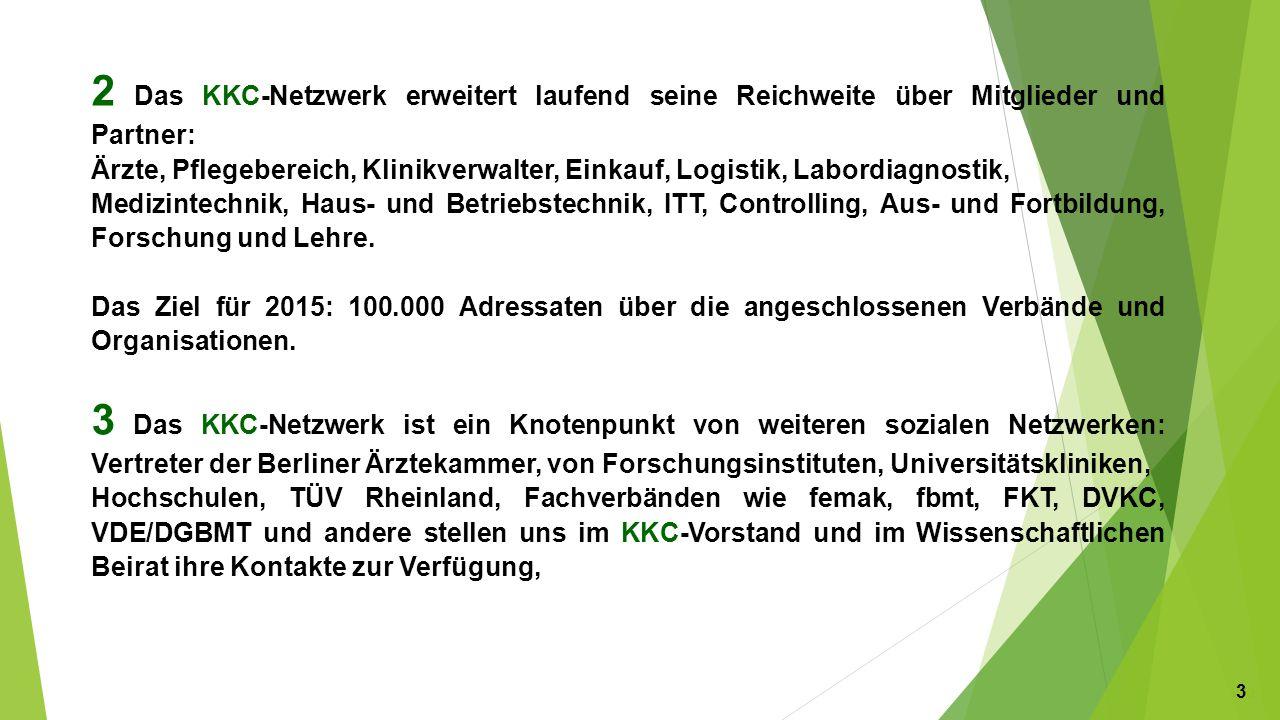 4 KKC führt eine qualitätskontrollierte Expertendatenbank.