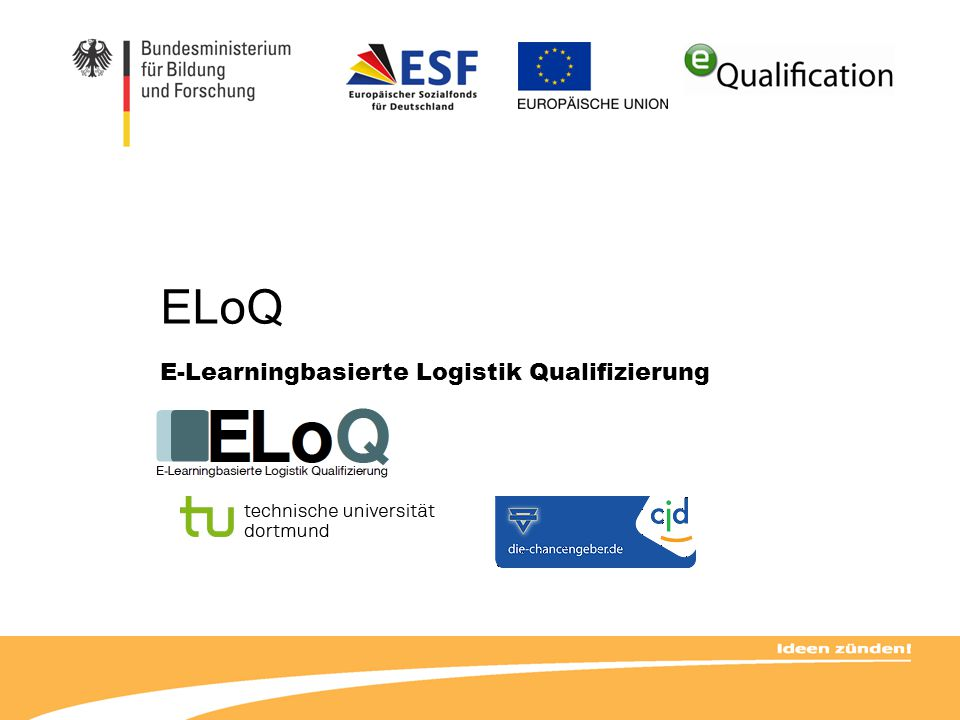 ELoQ E-Learningbasierte Logistik Qualifizierung