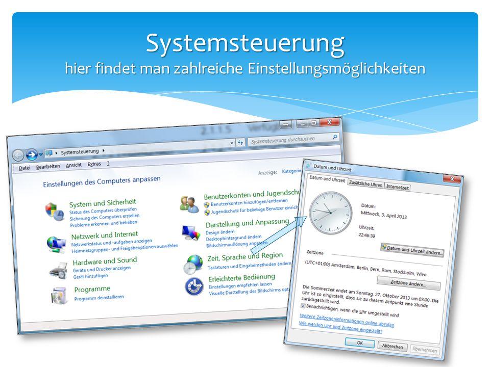 Systemsteuerung Programme installieren und deinstallieren Programme deinstalliert man in der Systemsteuerung !