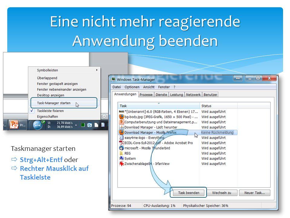 Darstellung von Dateien und Ordnern Ordner PowerPoint - Datei Access Datenbank Excel Arbeitsmappe Textdatei Anwendung Word Dokument PDF Dokument Bilder (JPG, PNG) Verknüpfung