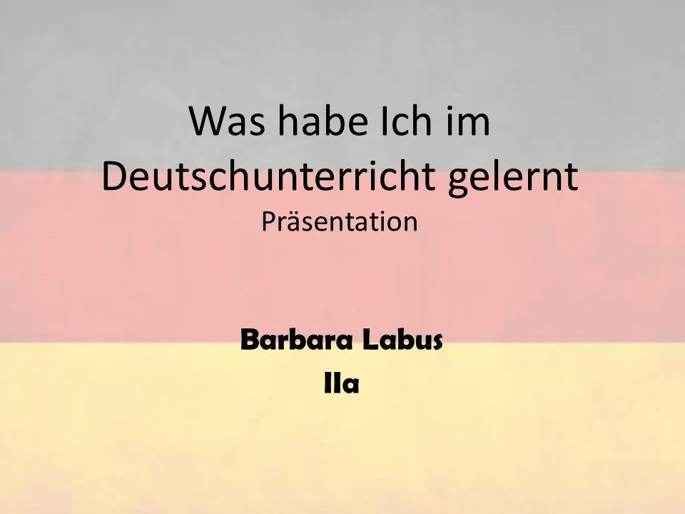 Ich habe ein wenig gelernt Deutsch lesen