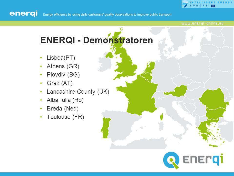 Partner Koordinator: DTV Consultants (NL) Partner: CARRIS (PT)POLIS (BE) CRES (GR)STP, Alba Iulia (Ro) Energy Agency of Plovdiv EAP (BG)TIS (PT) FGM-AMOR (AT)TISSEO (FR) GRAZ LINIEN (AT)TISSEO-SMTC (FR) Lancashire County Council LCC (UK)URTP (Ro)