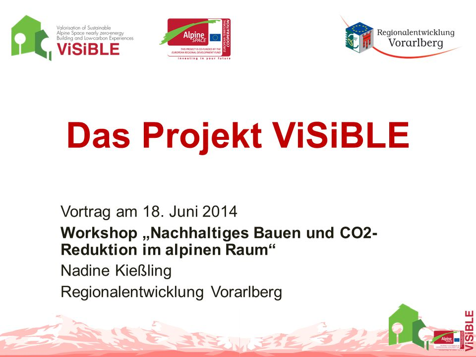 Das Projekt ViSiBLE Vortrag am 18.