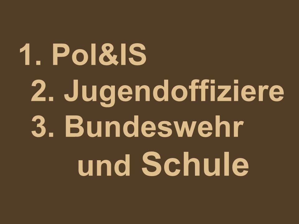 1. Pol&IS 2. Jugendoffiziere 3. Bundeswehr und Schule