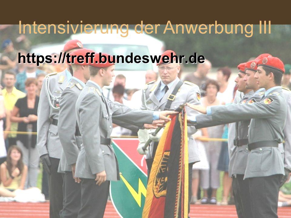 https://treff.bundeswehr.de Intensivierung der Anwerbung III