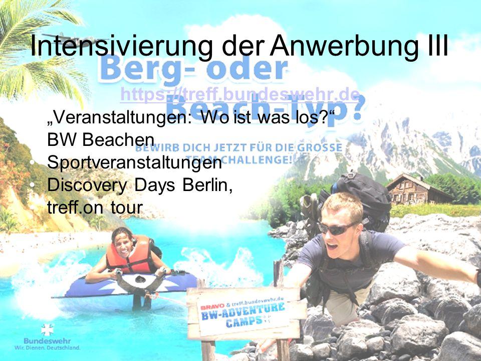"""https://treff.bundeswehr.de """"Veranstaltungen: Wo ist was los?"""" BW Beachen Sportveranstaltungen Discovery Days Berlin, treff.on tour Intensivierung der"""