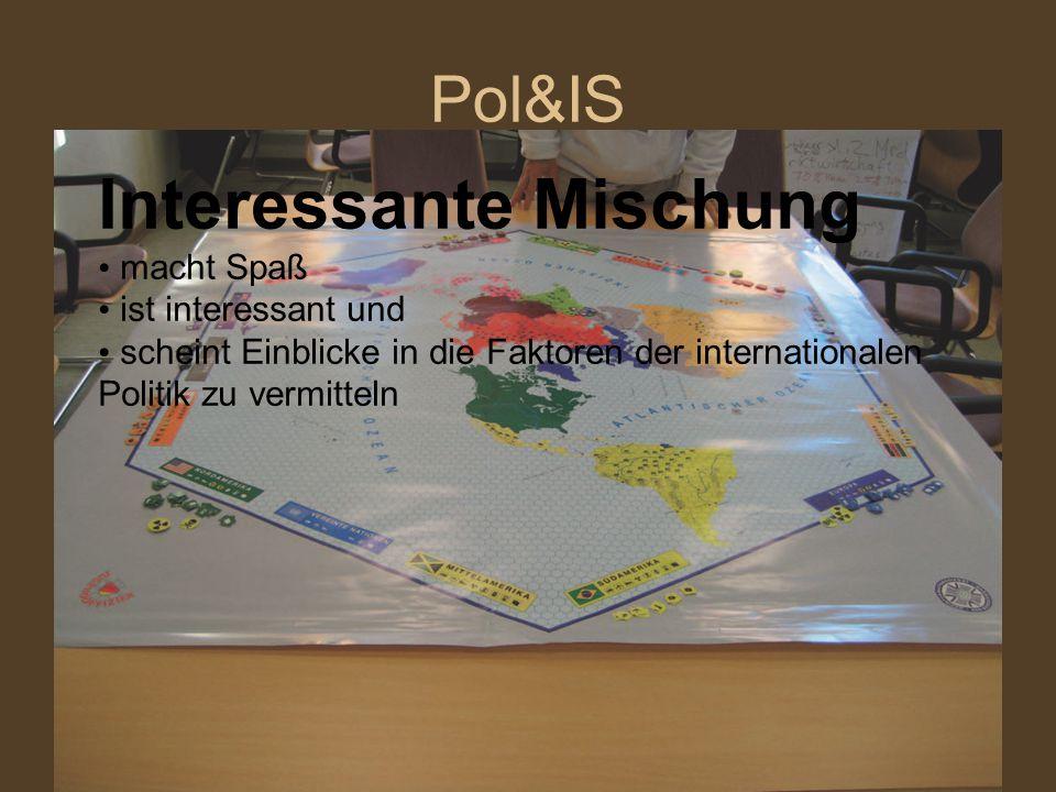 Pol&IS Interessante Mischung macht Spaß ist interessant und scheint Einblicke in die Faktoren der internationalen Politik zu vermitteln