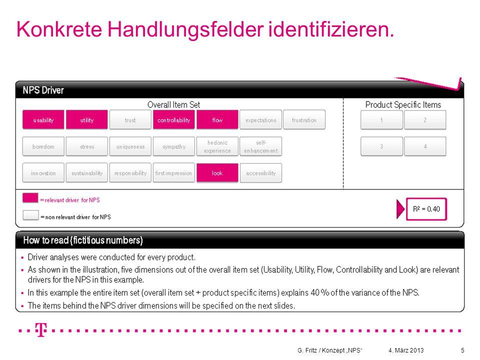 """4. März 2013G. Fritz / Konzept """"NPS""""5 Konkrete Handlungsfelder identifizieren."""