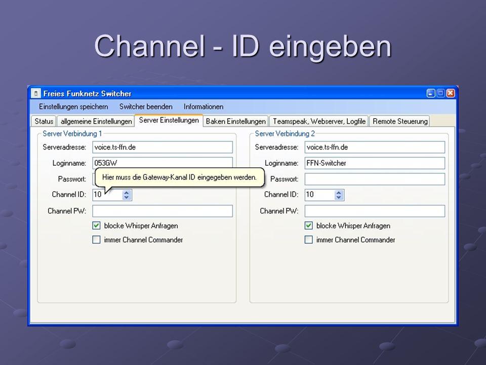 Channel - ID eingeben