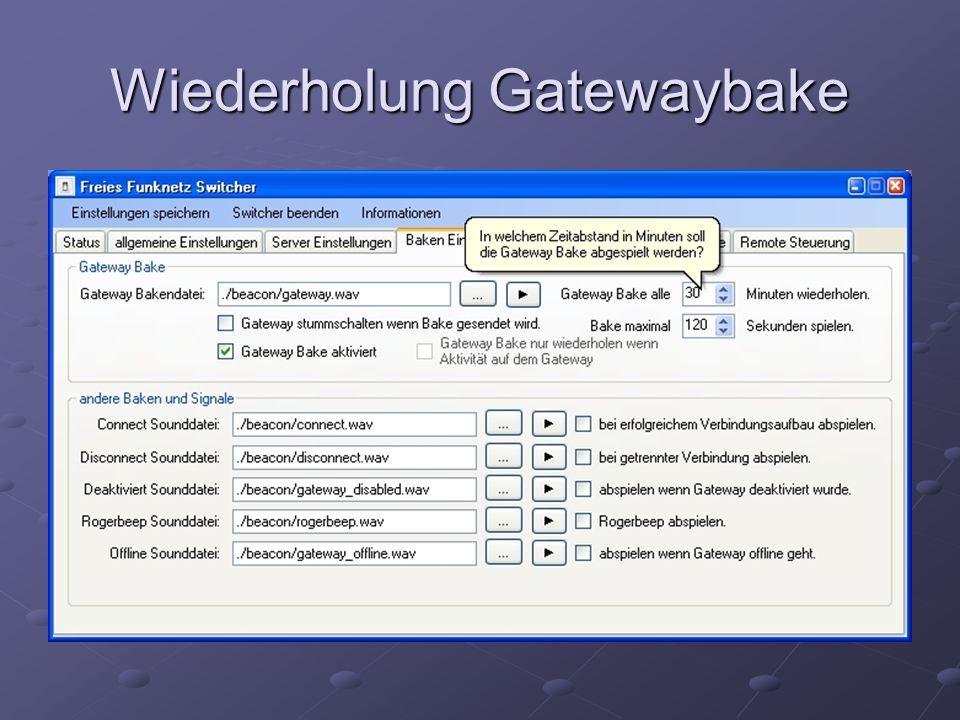 Wiederholung Gatewaybake