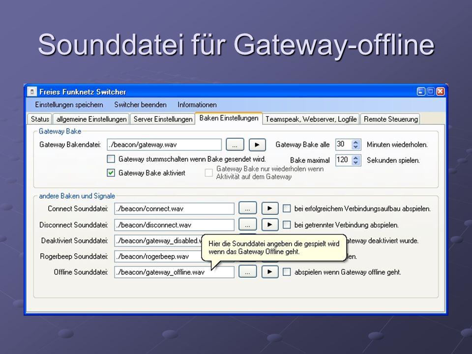 Sounddatei für Gateway-offline