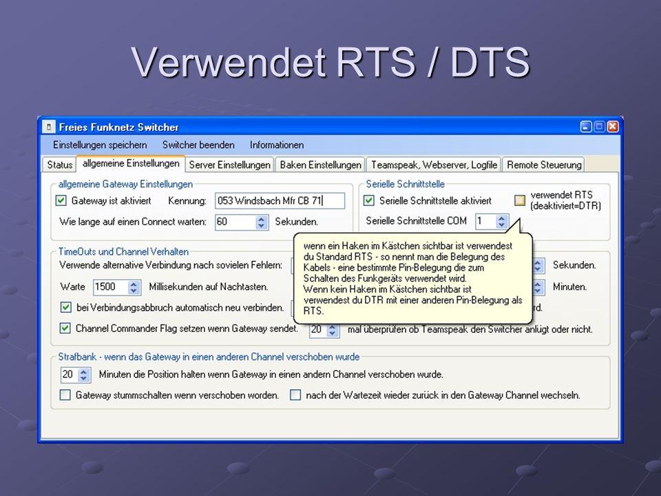 Verwendet RTS / DTS