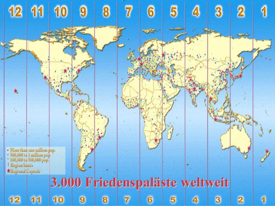 3.000 Friedenspaläste weltweit