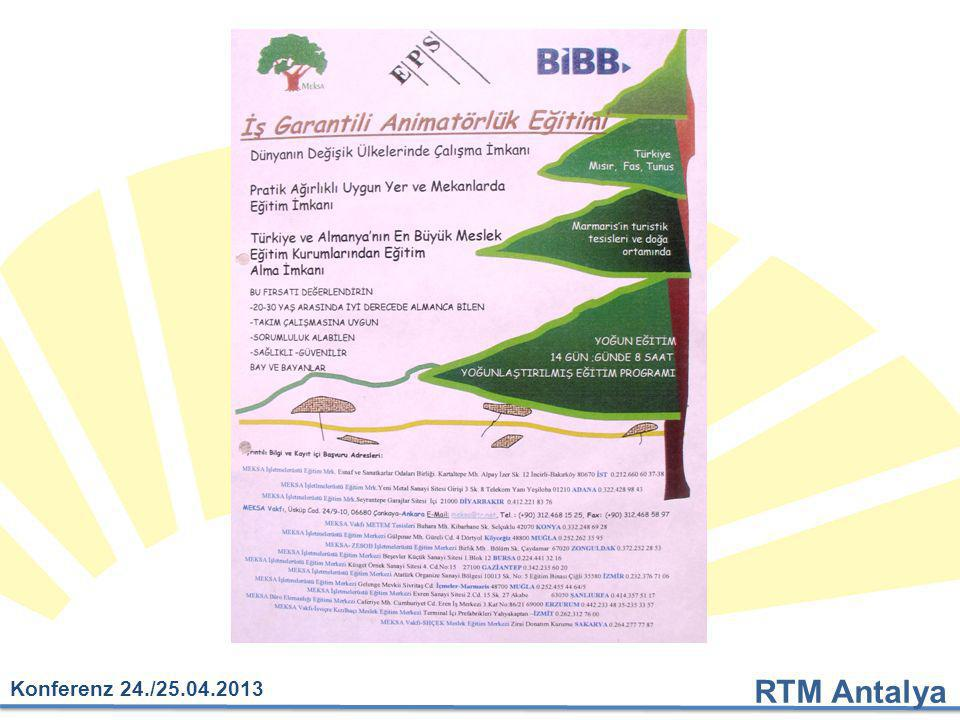 """RTM Antalya Konferenz 24./25.04.2013 Veröffentlichung: """"Das Grüne Buch der Touristik Vorstellung bei Frau Merkel"""