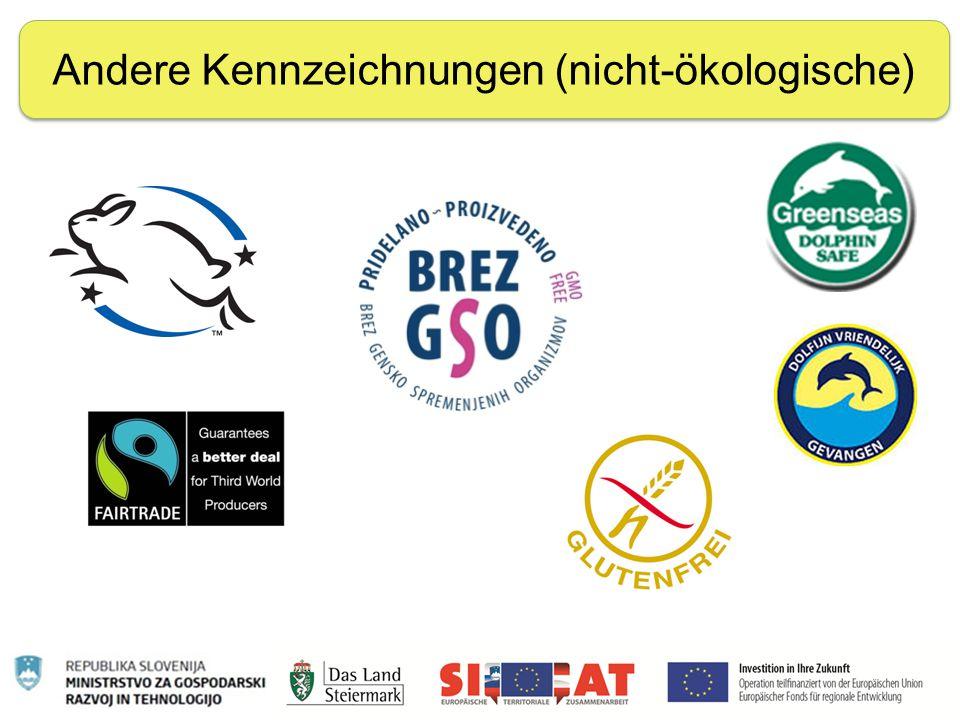 Nachhaltige Ernährung Andere Kennzeichnungen (nicht-ökologische)