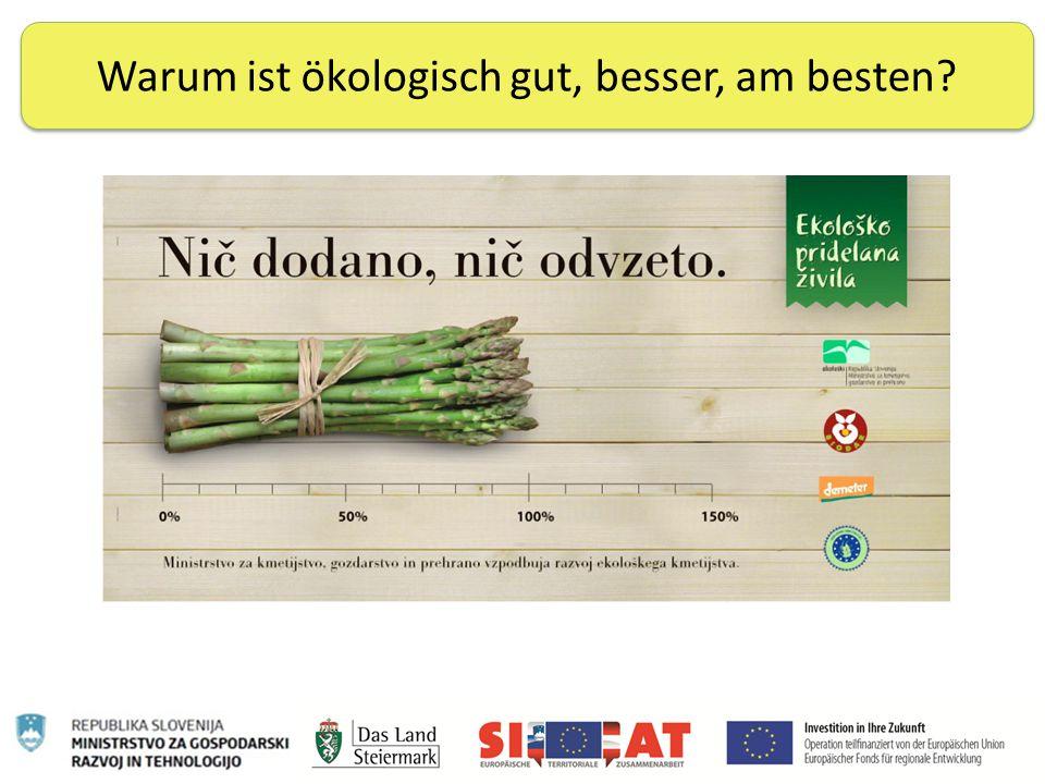 Nachhaltige Ernährung Warum ist ökologisch gut, besser, am besten?