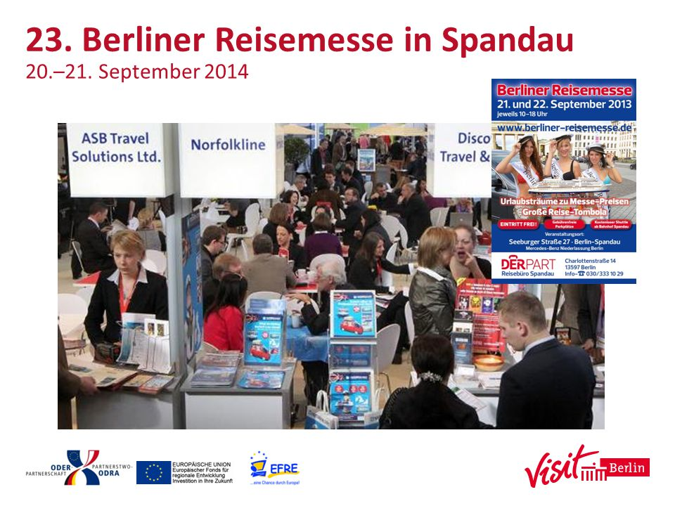 23. Berliner Reisemesse in Spandau 20.–21. September 2014
