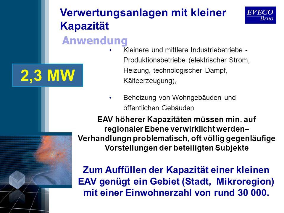 Anwendung Kleinere und mittlere Industriebetriebe - Produktionsbetriebe (elektrischer Strom, Heizung, technologischer Dampf, Kälteerzeugung), Beheizun