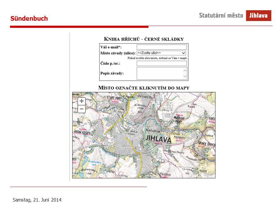 Sündenbuch Samstag, 21. Juni 2014