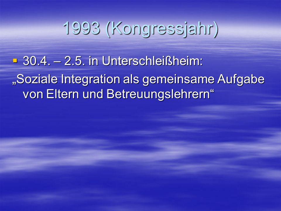 """1992  29.5. – 31.5. in Hannover: """"Hilfsmittel – Hilfen oder Ballast?""""  10.12. – 12.12. in St. Andreasberg/Harz: """"Blinde und Sehbehinderte an Regelsc"""