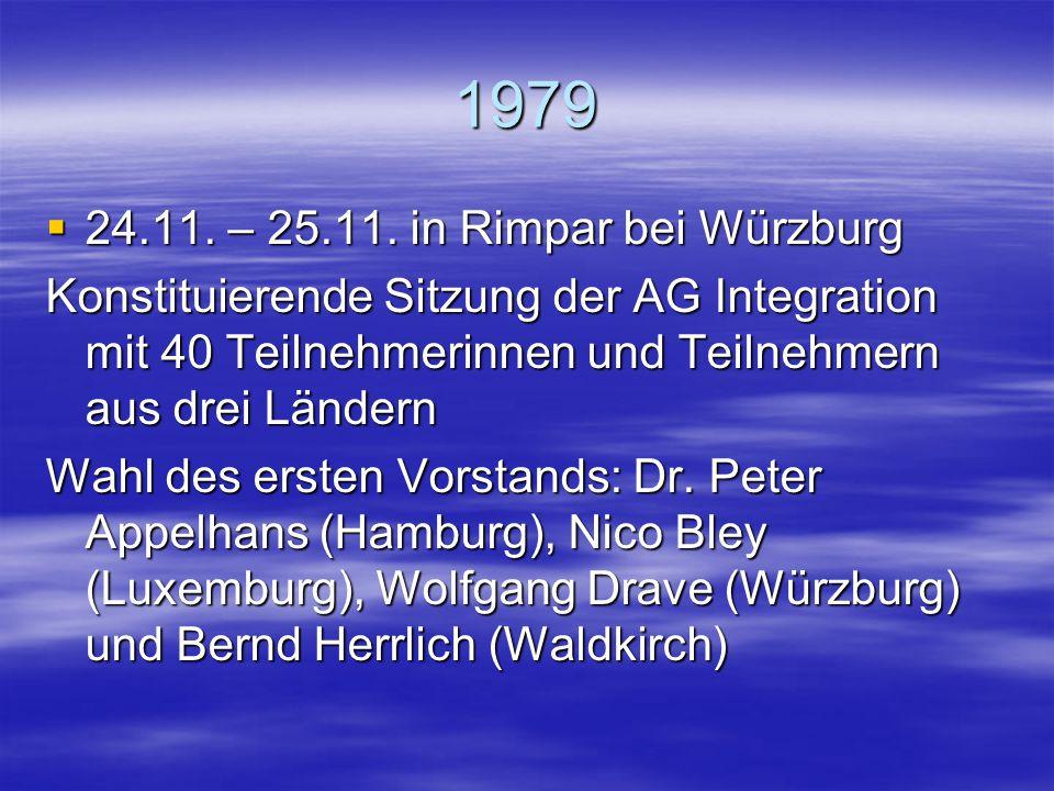 Die Tagungen ab 1999 werden Ihnen in einer zweiten Präsentation gezeigt.