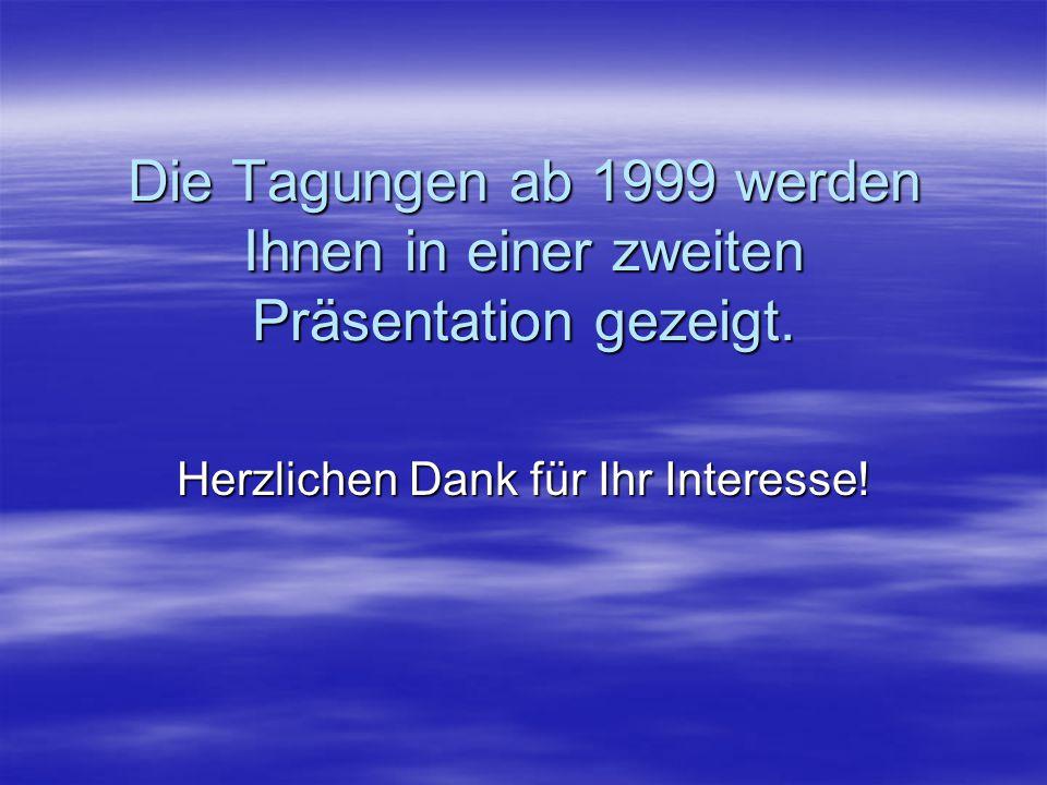 """1998 (Kongressjahr)  20.3. – 22.3. in Stuttgart: """"Gratwanderungen, Höhen und Tiefen – Integration aus unterschiedlichen Perspektiven"""""""
