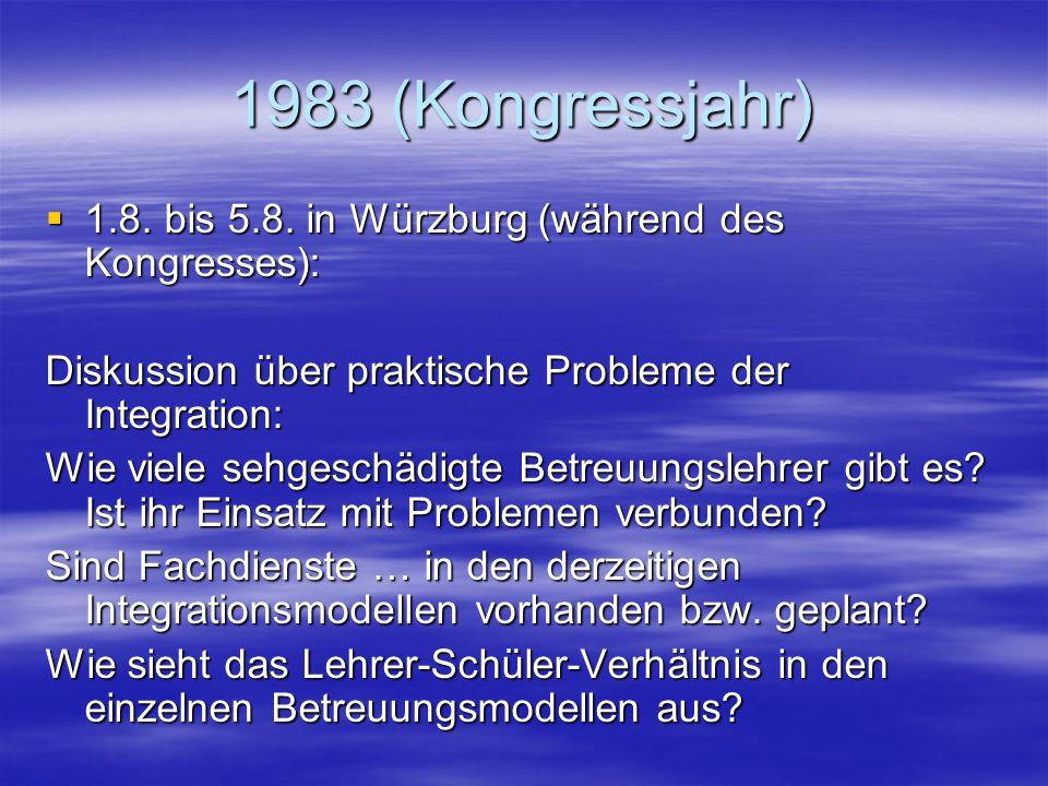 1983 (Kongressjahr)  1.8.bis 5.8.