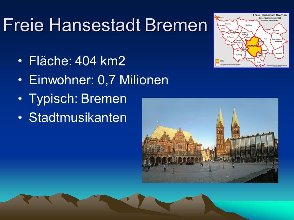 Nordrhein- Westfalen Haupfstadt: Düsseldorf Fläsche: 34 068 km2 Einwohner: 17,3 Milionen Typisch: Ruhrgebiet, Kölner Dom
