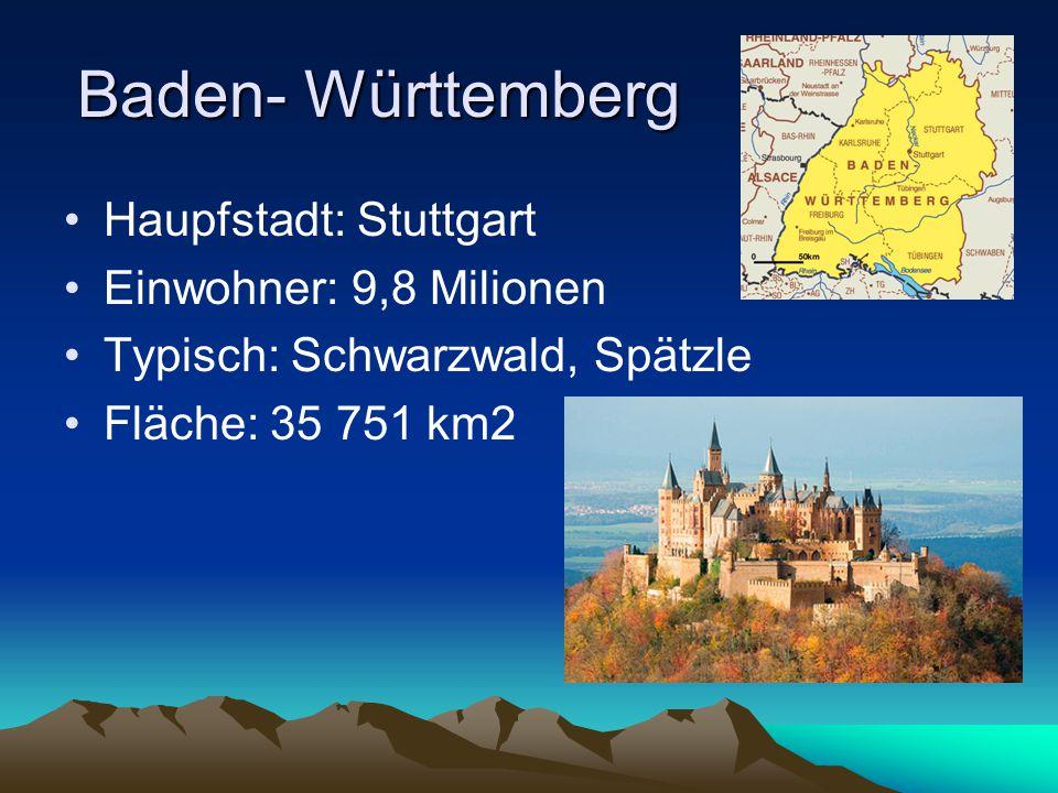 Hessen Haupfstadt: Wiesbaden Einwohner: 5,7 Milionen Typisch: Apfelwein, Handkäse Fläche: 21 114 km2