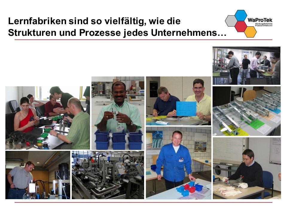 Lernfabriken sind so vielfältig, wie die Strukturen und Prozesse jedes Unternehmens…