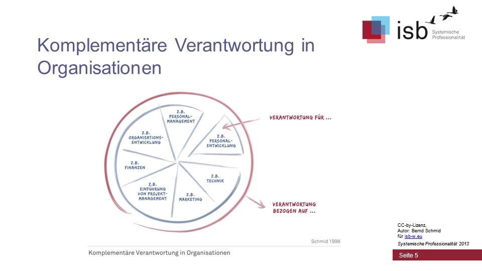 CC-by-Lizenz, Autor: Bernd Schmid für isb-w.euisb-w.eu Systemische Professionalität 2013 Seite 16 CC-by-Lizenz, Autor: Bernd Schmid für isb-w.euisb-w.eu Systemische Professionalität 2013