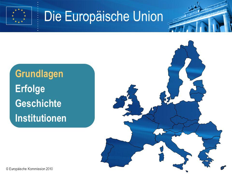 © Europäische Kommission 2010 EU-Mitgliedstaaten EU-Mitglieder EU-Beitrittskandidaten 27 Länder 500 Millionen Menschen 23 Amtssprachen