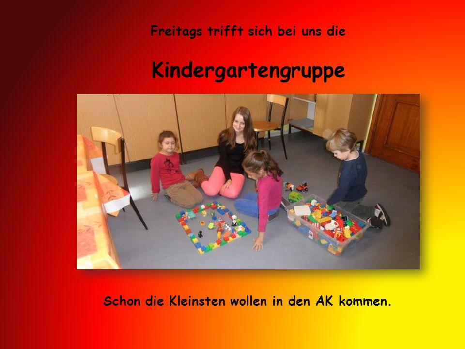 Kindergartengruppe Freitags trifft sich bei uns die Schon die Kleinsten wollen in den AK kommen.