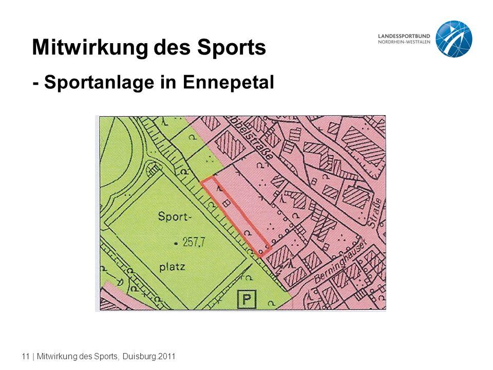 11 | Mitwirkung des Sports, Duisburg.2011 Mitwirkung des Sports - Sportanlage in Ennepetal