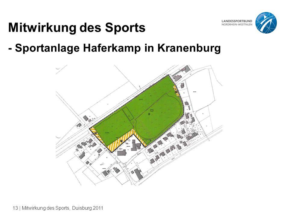 13 | Mitwirkung des Sports, Duisburg.2011 Mitwirkung des Sports - Sportanlage Haferkamp in Kranenburg
