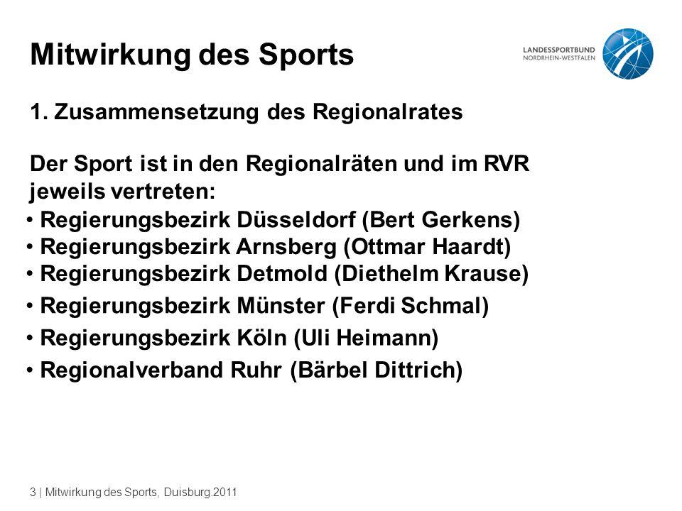 3 | Mitwirkung des Sports, Duisburg.2011 Mitwirkung des Sports 1.