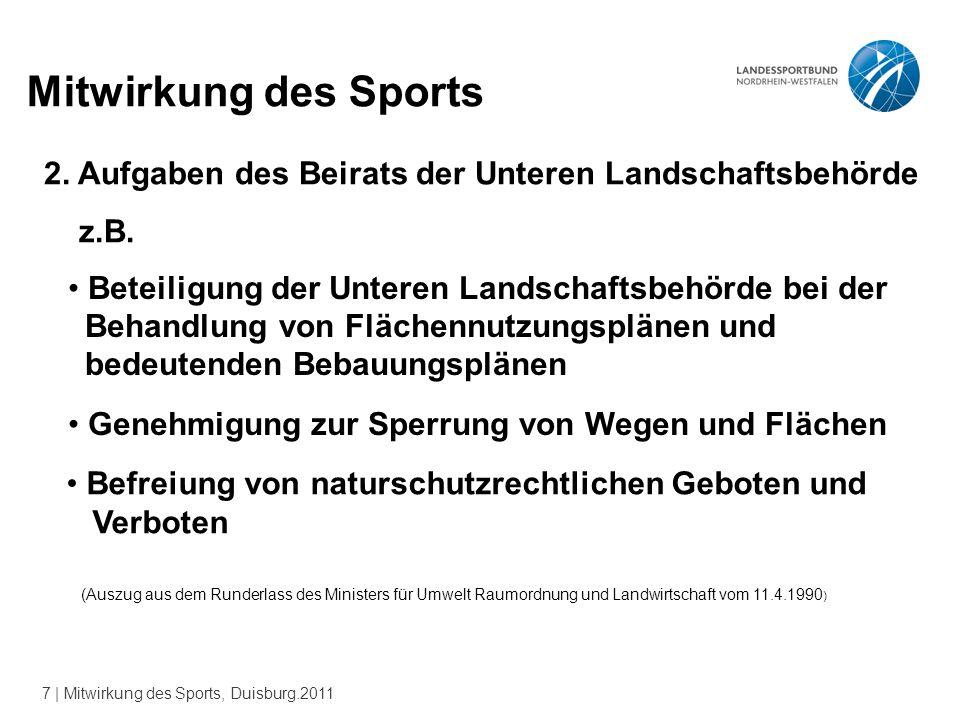 7 | Mitwirkung des Sports, Duisburg.2011 Mitwirkung des Sports 2.