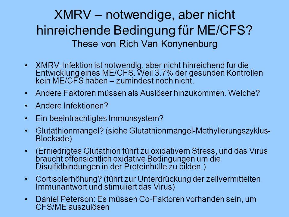 XMRV – notwendige, aber nicht hinreichende Bedingung für ME/CFS? These von Rich Van Konynenburg XMRV-Infektion ist notwendig, aber nicht hinreichend f
