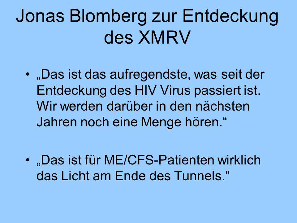 """Jonas Blomberg zur Entdeckung des XMRV """"Das ist das aufregendste, was seit der Entdeckung des HIV Virus passiert ist. Wir werden darüber in den nächst"""
