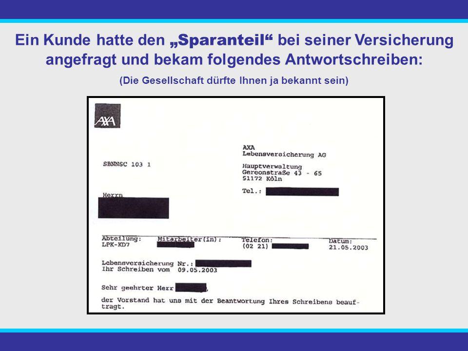 Der Kunde zahlte jeden Monat 127,83€ in eine Kapitallebensversicherung mit Berufsunfähigkeitrente.