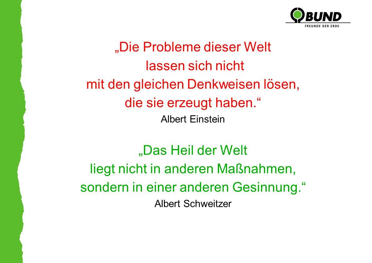 """""""Die Probleme dieser Welt lassen sich nicht mit den gleichen Denkweisen lösen, die sie erzeugt haben."""" Albert Einstein """"Das Heil der Welt liegt nicht"""
