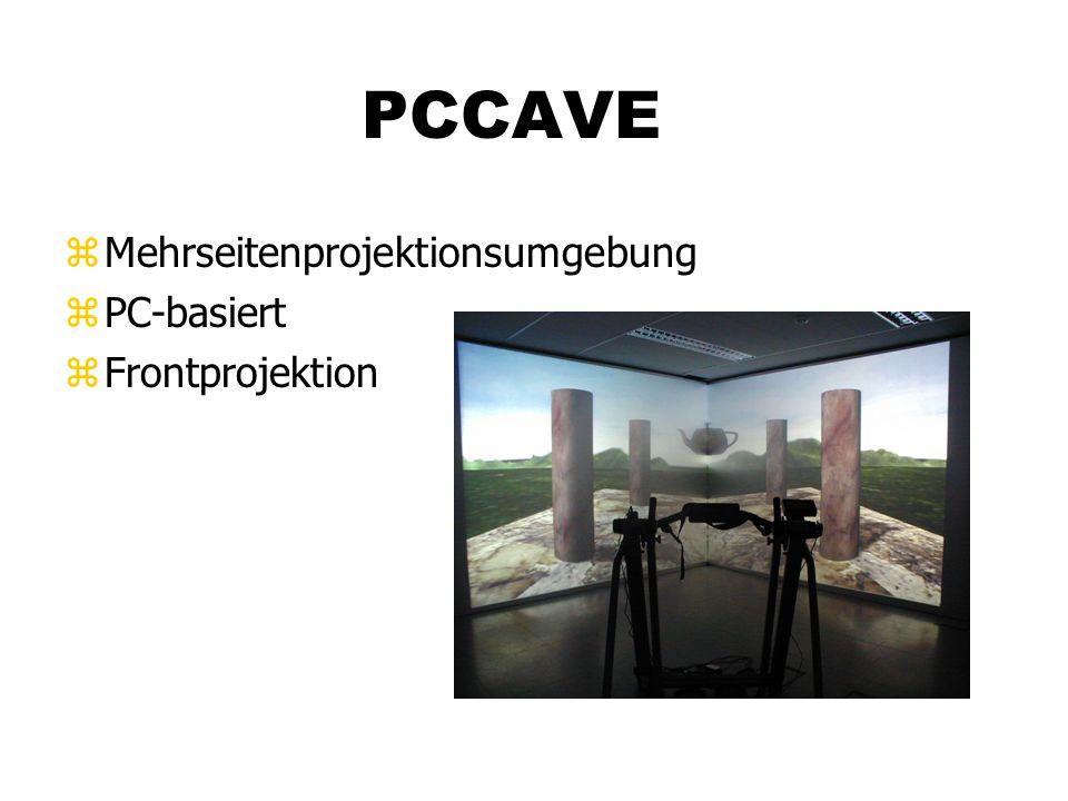 PCCAVE zMehrseitenprojektionsumgebung zPC-basiert zFrontprojektion
