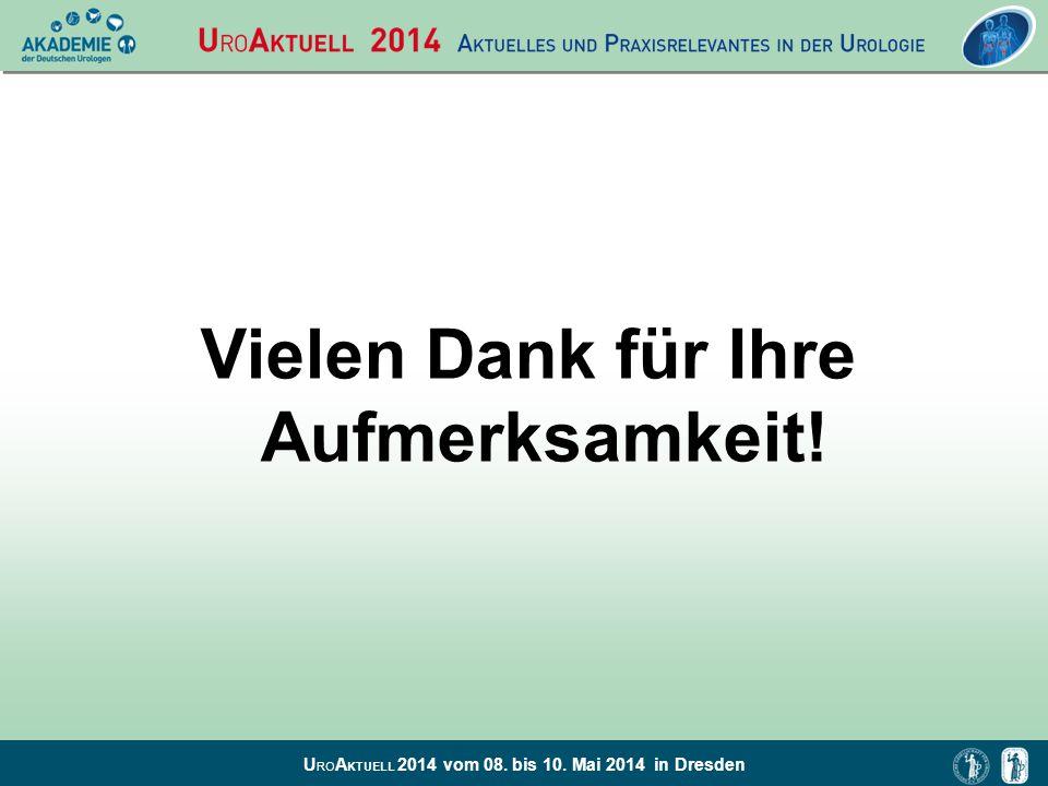 U RO A KTUELL 2014 vom 08. bis 10. Mai 2014 in Dresden Vielen Dank für Ihre Aufmerksamkeit!