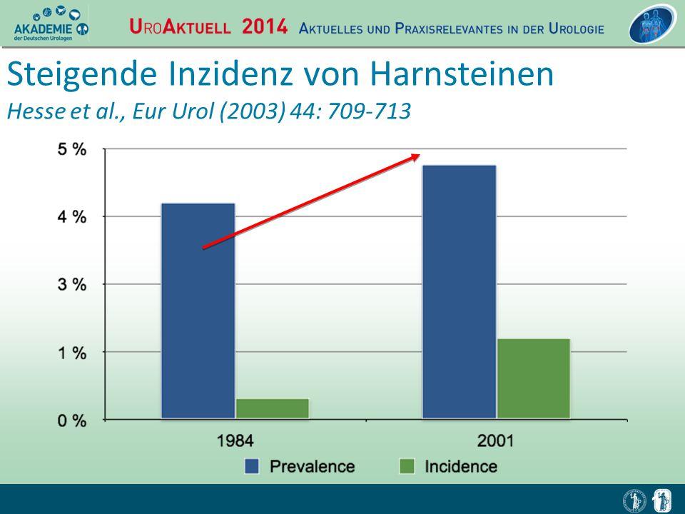 1 Steigende Inzidenz von Harnsteinen Hesse et al., Eur Urol (2003) 44: 709-713