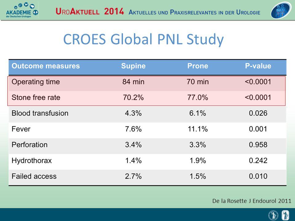 CROES Global PNL Study De la Rosette J Endourol 2011