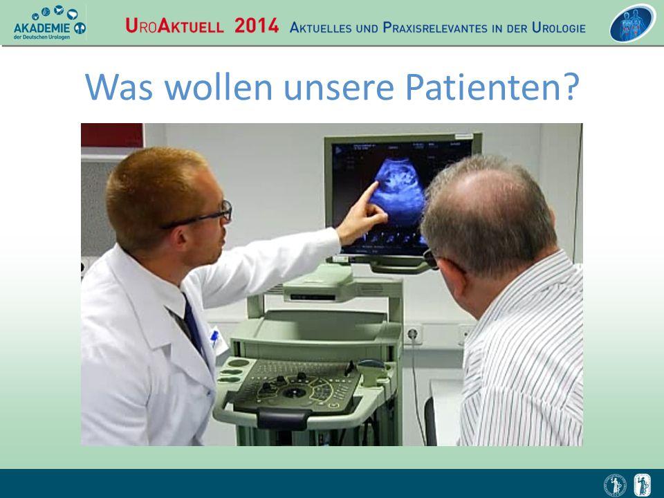 Was wollen unsere Patienten?